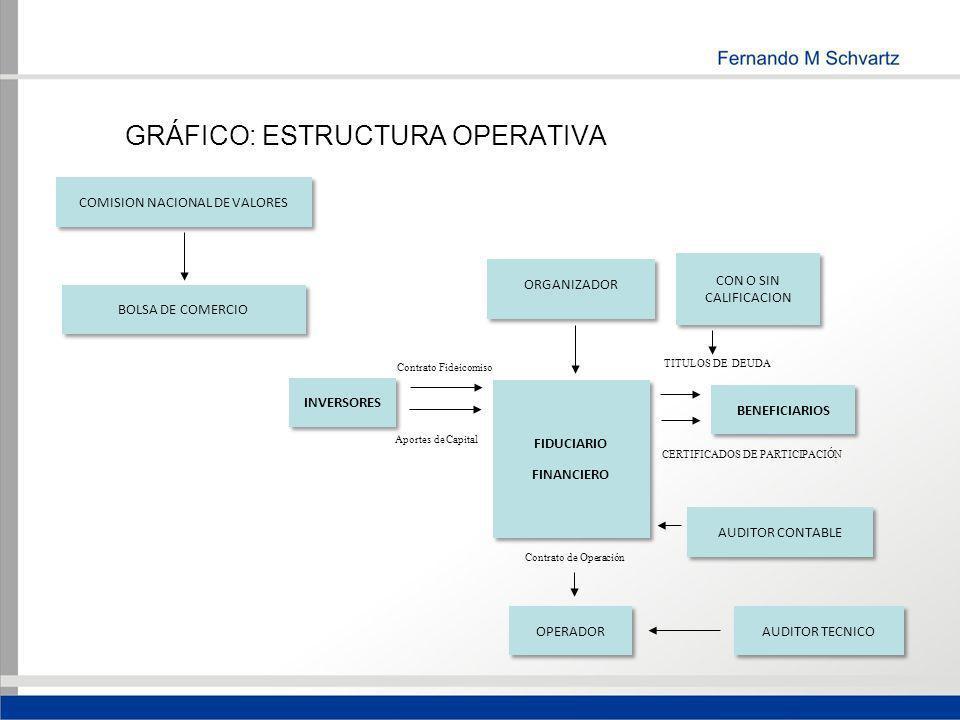 GRÁFICO: ESTRUCTURA OPERATIVA CON O SIN CALIFICACION COMISION NACIONAL DE VALORES BOLSA DE COMERCIO ORGANIZADOR INVERSORES FIDUCIARIO FINANCIERO FIDUC