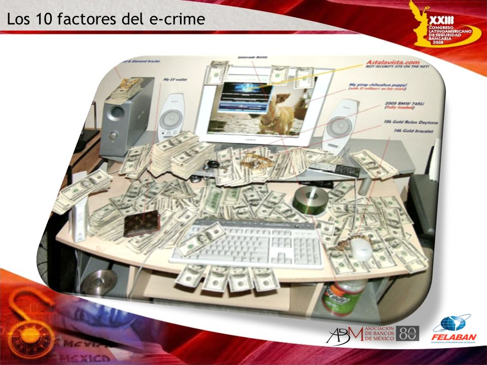 Los 10 factores 1.Cada vez somos más vulnerables al crimen en Internet 2.