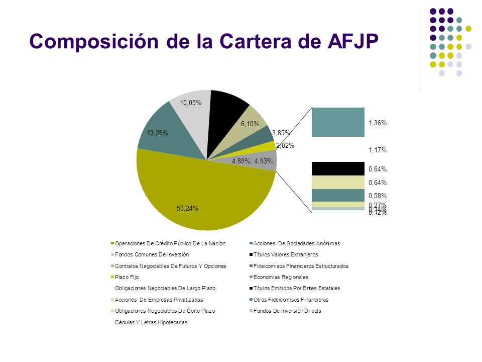 Composición de la Cartera de AFJP