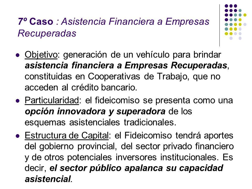 Objetivo: generación de un vehículo para brindar asistencia financiera a Empresas Recuperadas, constituidas en Cooperativas de Trabajo, que no acceden