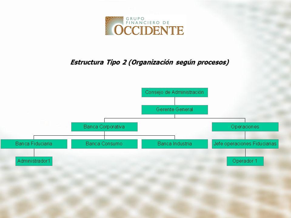 Estructura Tipo 2 (Organización según procesos)
