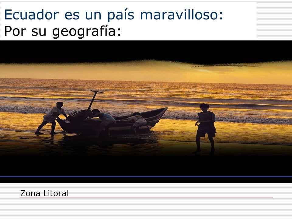 Ecuador es un país maravilloso: Por su geografía: Zona Litoral