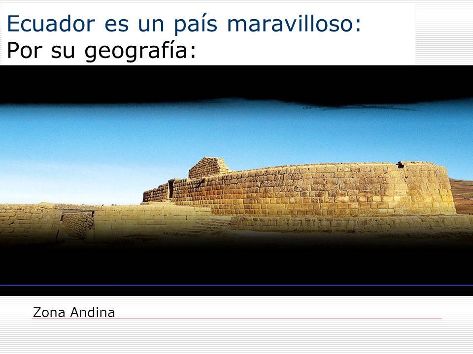 Ecuador es un país maravilloso: Por su geografía: Zona Andina