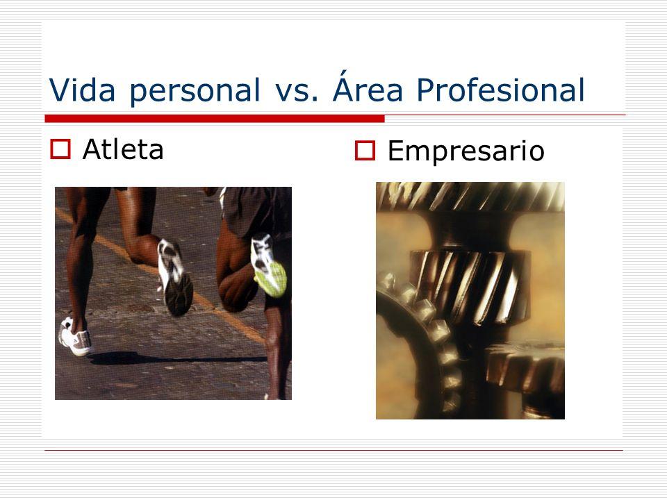 Vida personal vs. Área Profesional Atleta Empresario
