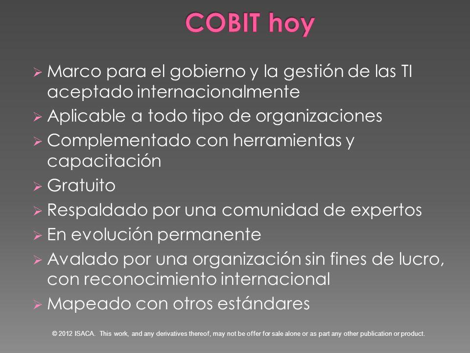 Una publicación independiente que desarrolla el modelo de facilitadores de los procesos Source: COBIT ® 5: Enabling Processes, figure 8.