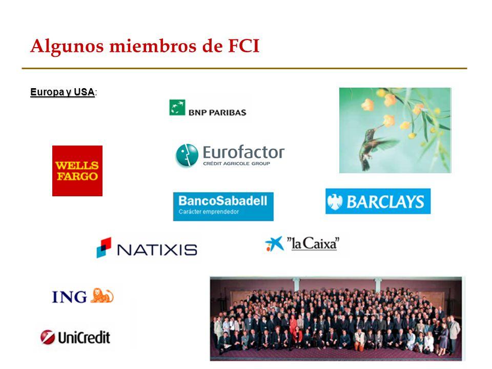 Algunos miembros de FCI Europa y USA Europa y USA Europa y USA: