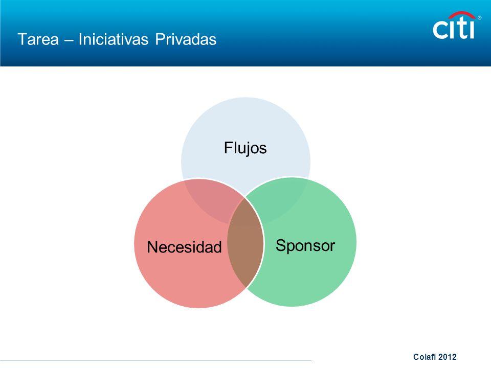 Colafi 2012 Tarea – Iniciativas Privadas Flujos SponsorNecesidad