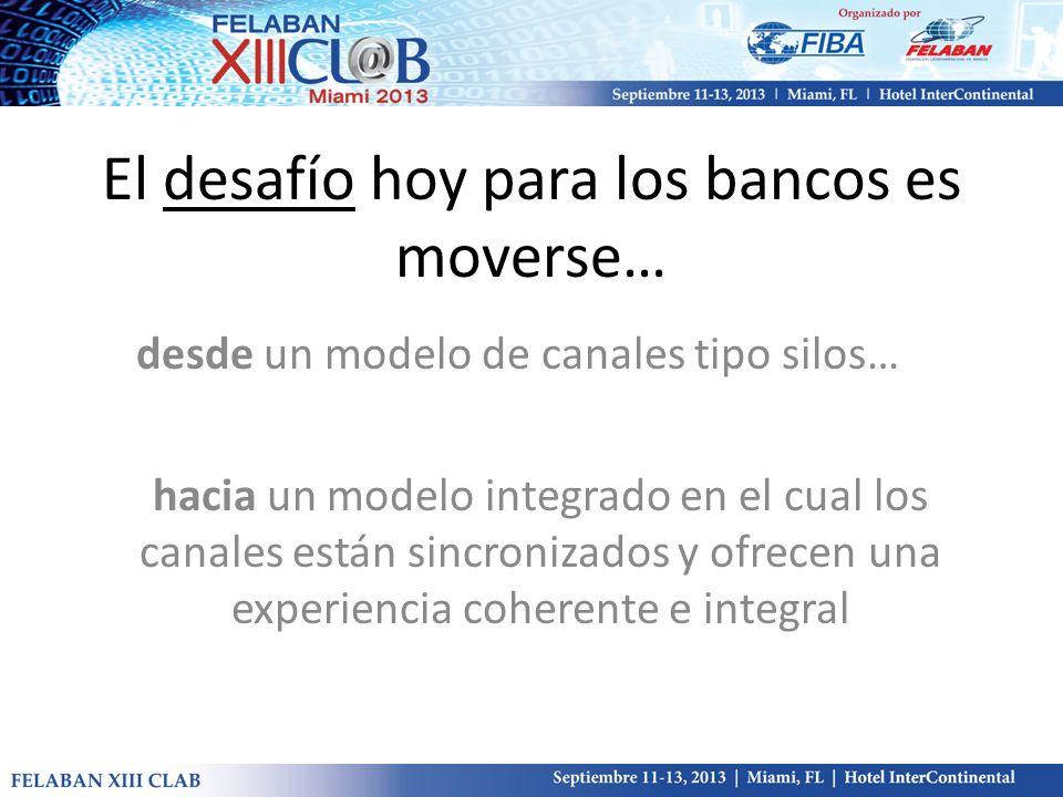 El desafío hoy para los bancos es moverse… desde un modelo de canales tipo silos… hacia un modelo integrado en el cual los canales están sincronizados