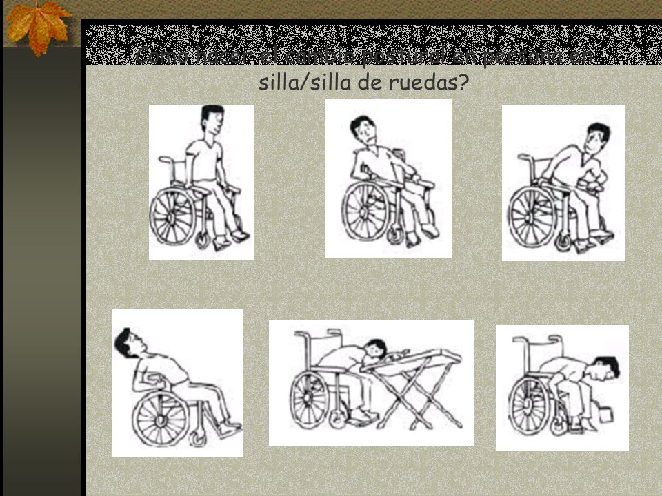 Como hacer el cambio postural en persona en silla/silla de ruedas?
