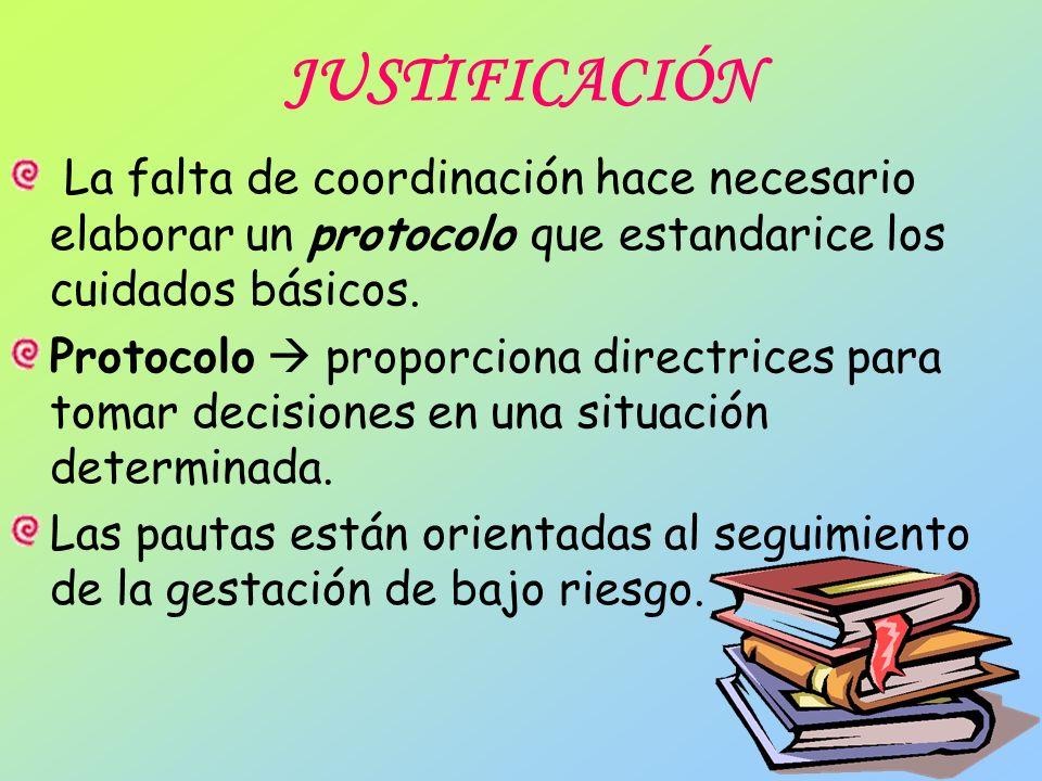 JUSTIFICACIÓN Matrona: profesional más adecuado para el seguimiento del embarazo normal.