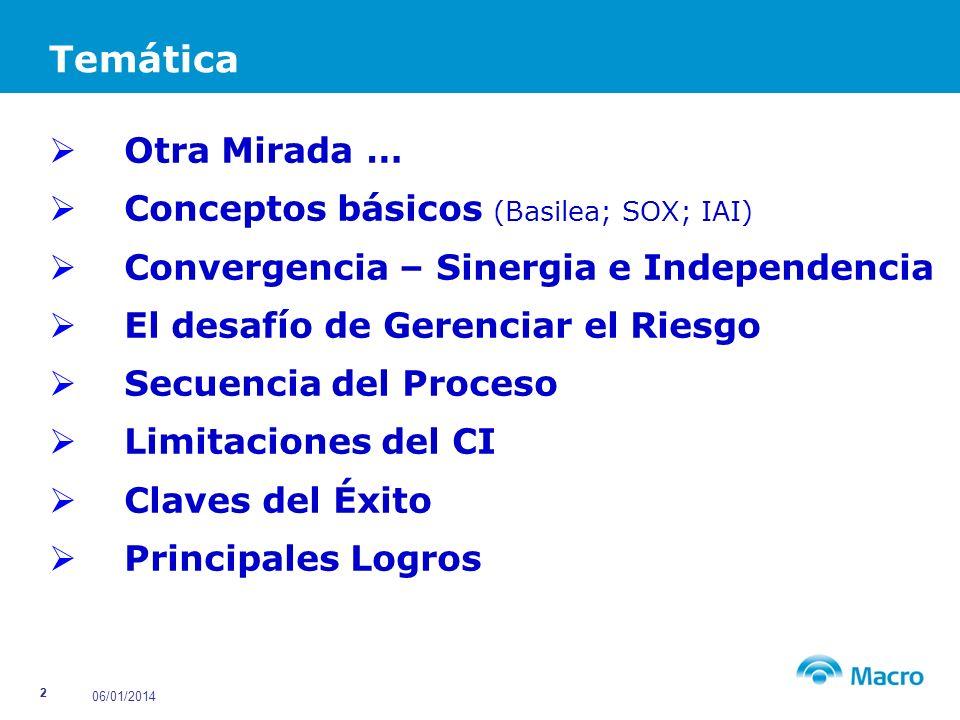 06/01/2014 3 Introducción Mirada diferente de la Auditoría Interna Unidad que aporta al Negocio.