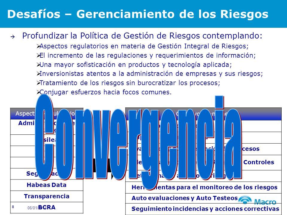06/01/2014 19 Herramienta para la administración de riesgos y la obtenci ó n del mapa de controles.