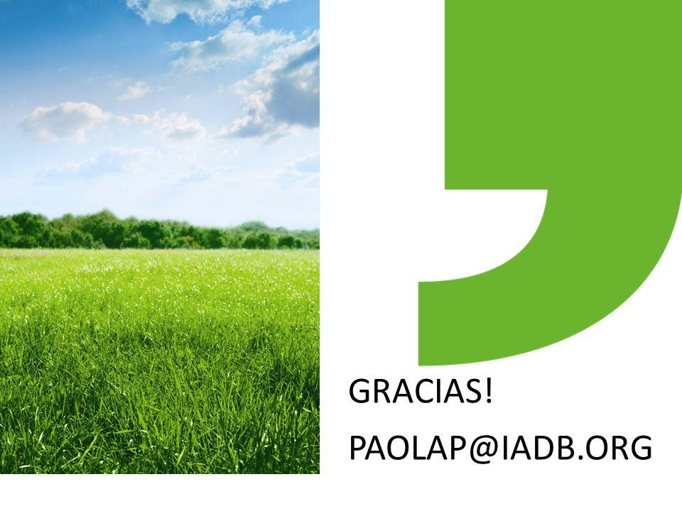 GRACIAS! PAOLAP@IADB.ORG