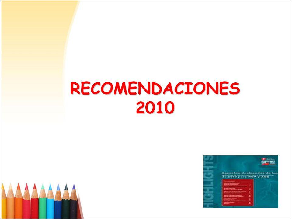 RECOMENDACIONES 2010