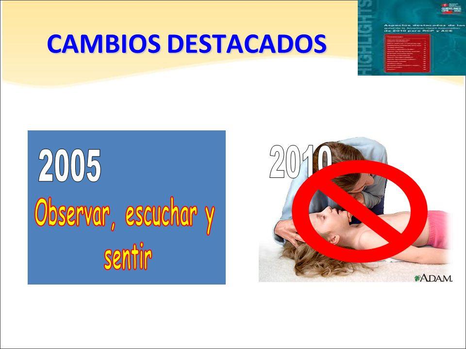 CAMBIOS DESTACADOS