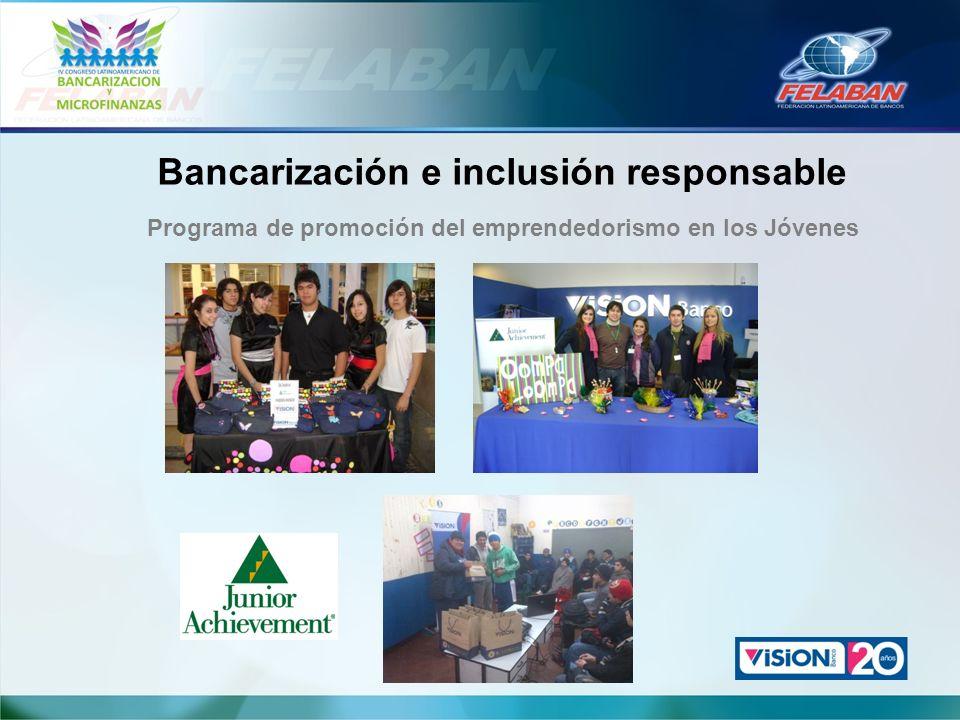 Bancarización e inclusión responsable Programa de promoción del emprendedorismo en los Jóvenes