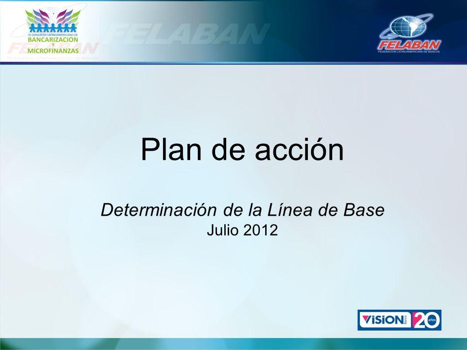 Plan de acción Determinación de la Línea de Base Julio 2012