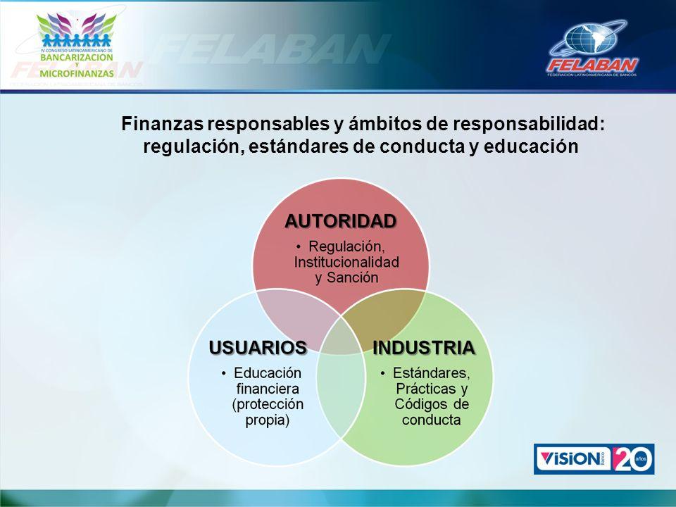 Finanzas responsables y ámbitos de responsabilidad: regulación, estándares de conducta y educación
