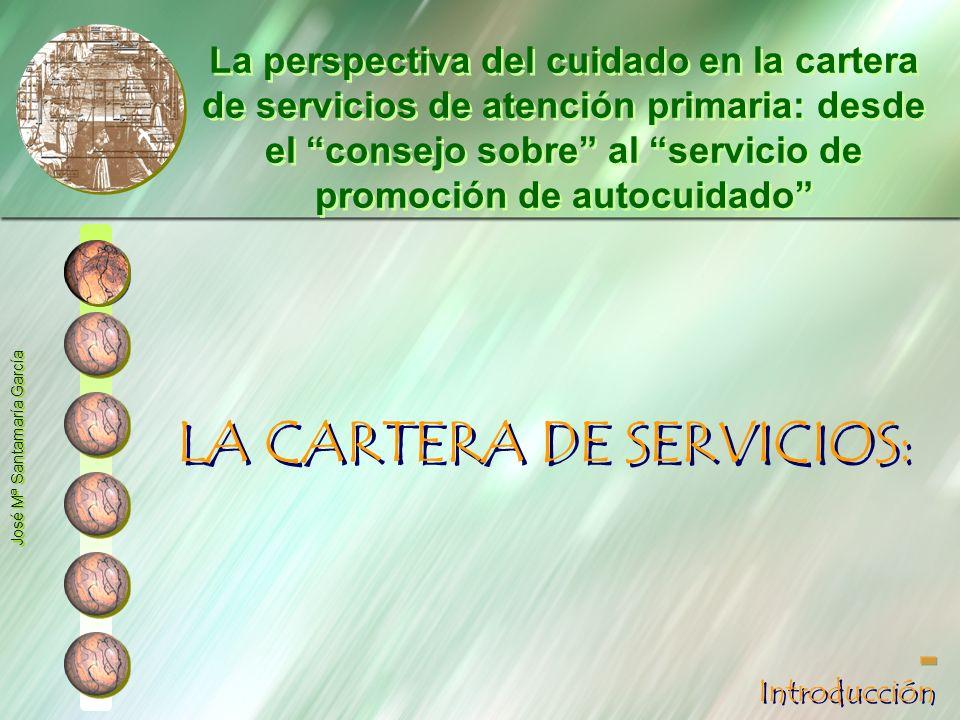 LA CARTERA DE SERVICIOS: La perspectiva del cuidado en la cartera de servicios de atención primaria: desde el consejo sobre al servicio de promoción d