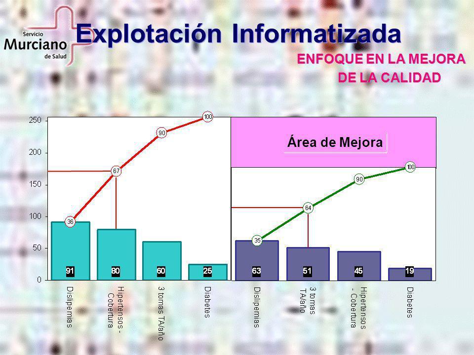 Explotación Informatizada ENFOQUE EN LA MEJORA DE LA CALIDAD Área de Mejora