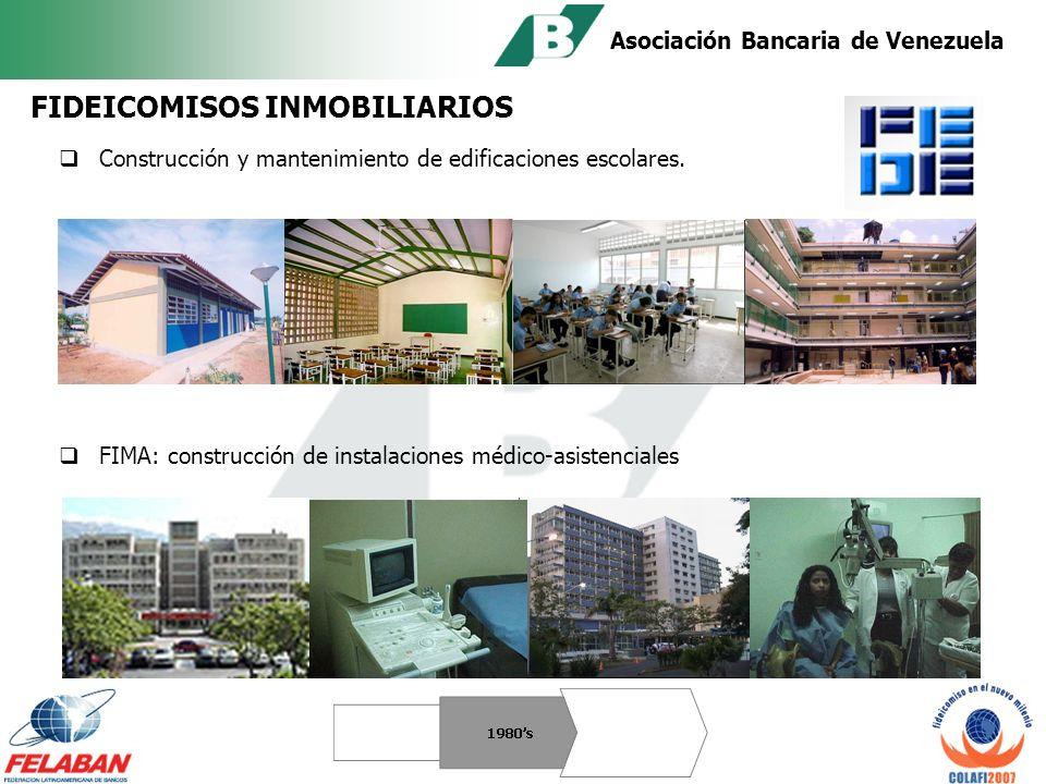 Asociación Bancaria de Venezuela Expansión Empresas Privadas Reestructuración de Deuda Titularización Becas Estudiantiles 1980s EVOLUCIÓN DEL FIDEICOMISO EN VENEZUELA