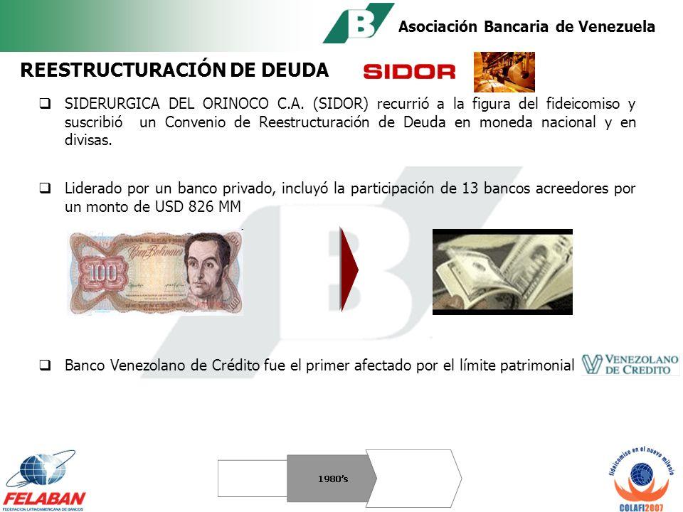 Asociación Bancaria de Venezuela Utilizados por deudores privados para garantizar el pago de su deuda externa.