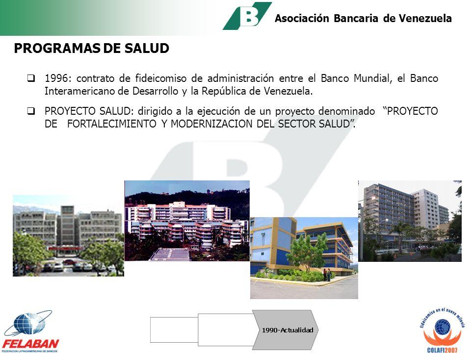 Asociación Bancaria de Venezuela Mediante un fideicomiso suscrito en 1996, se administró con éxito un programa económico-social denominado PROAL.