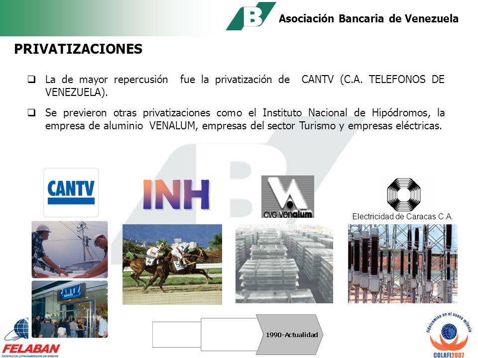 Asociación Bancaria de Venezuela 1996: contrato de fideicomiso de administración entre el Banco Mundial, el Banco Interamericano de Desarrollo y la República de Venezuela.