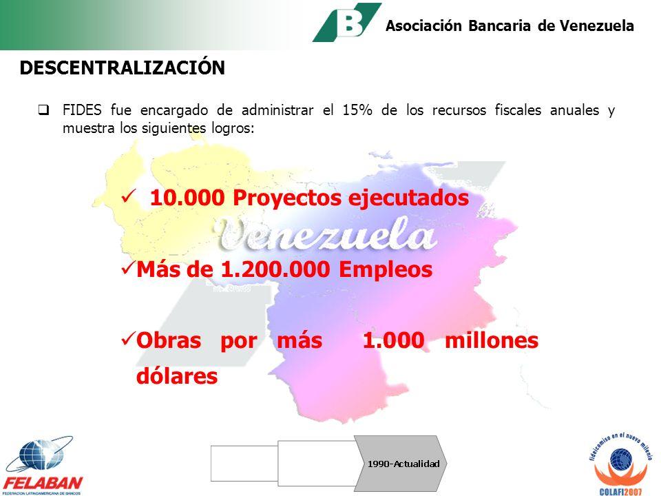 Asociación Bancaria de Venezuela CONCESIONES El Estado utilizó el fideicomiso para el reordenamiento de las tareas en el área de servicios.