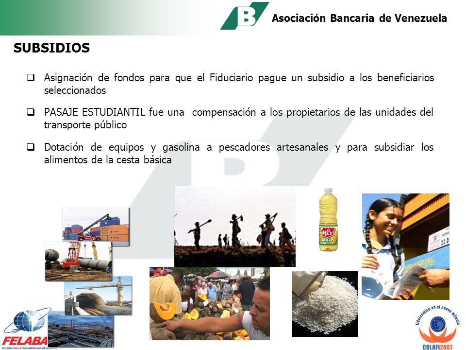 Asociación Bancaria de Venezuela CONTRUCCION Y DOTACION DE VIVIENDAS fueron ejecutadas por: