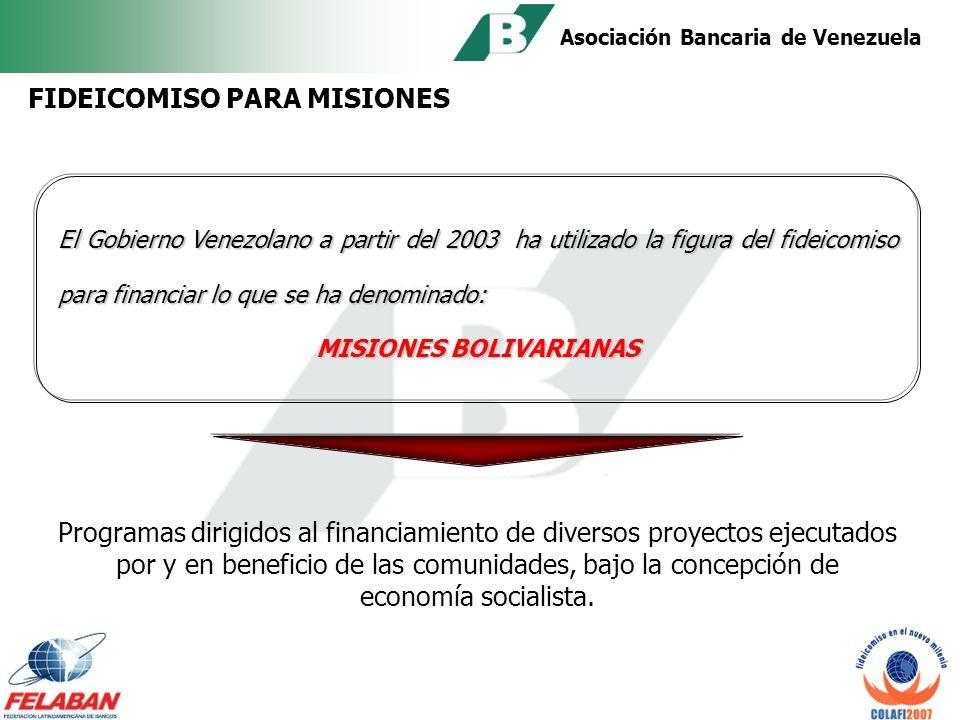 Asociación Bancaria de Venezuela PROGRAMAS DE FINANCIAMIENTO FONDAFA - Agricultura FONCREI – Microempresas y organizaciones comunitarias FUNDAYACUCHO – Personas naturales