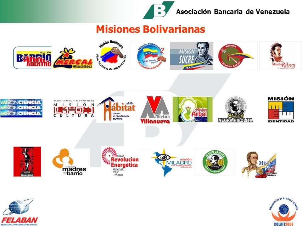 Asociación Bancaria de Venezuela FIDEICOMISO PARA MISIONES El Gobierno Venezolano a partir del 2003 ha utilizado la figura del fideicomiso para financiar lo que se ha denominado: MISIONES BOLIVARIANAS Programas dirigidos al financiamiento de diversos proyectos ejecutados por y en beneficio de las comunidades, bajo la concepción de economía socialista.