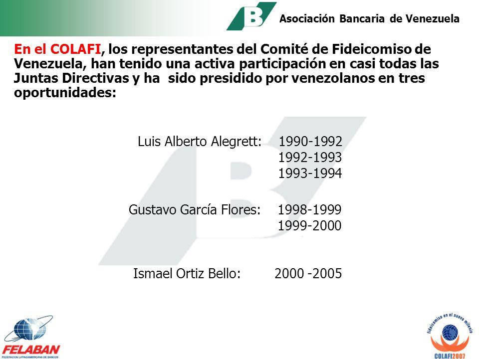 Asociación Bancaria de Venezuela EN 1998 se aprueba por unanimidad en el COLAFI: CÓDIGO DE ÉTICA DEL FIDUCIARIO LATINOAMERICANO El cual ha sido integrado en Venezuela dentro de las Normas Prudenciales dictadas por el ente regulador.