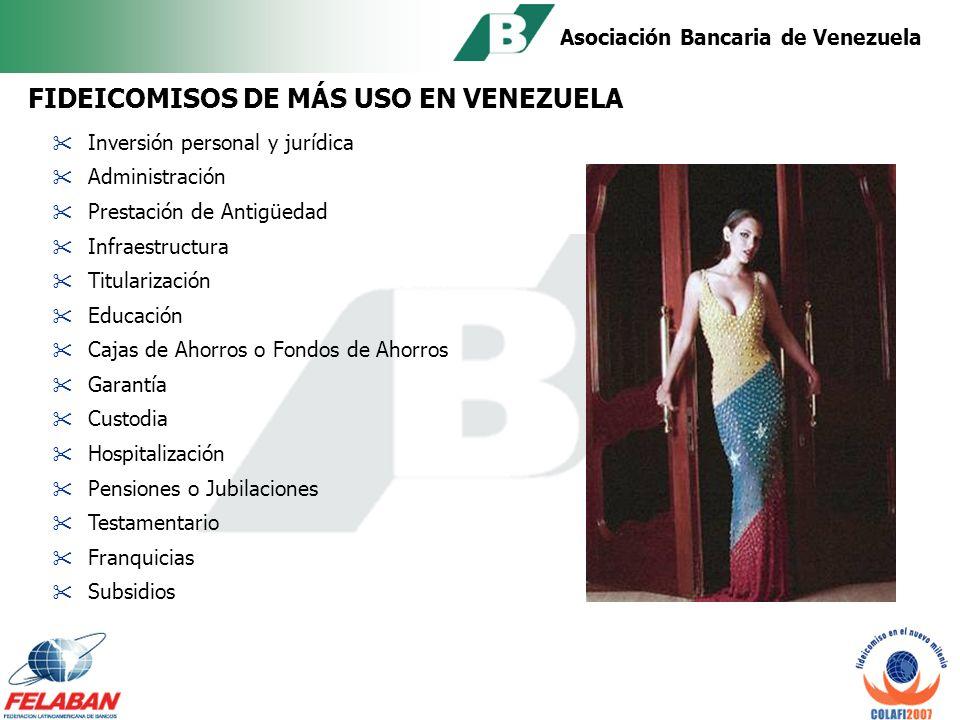 Asociación Bancaria de Venezuela Garantía que la ejecución y rendición clara de cuentas están legalmente amparada por las cláusulas.