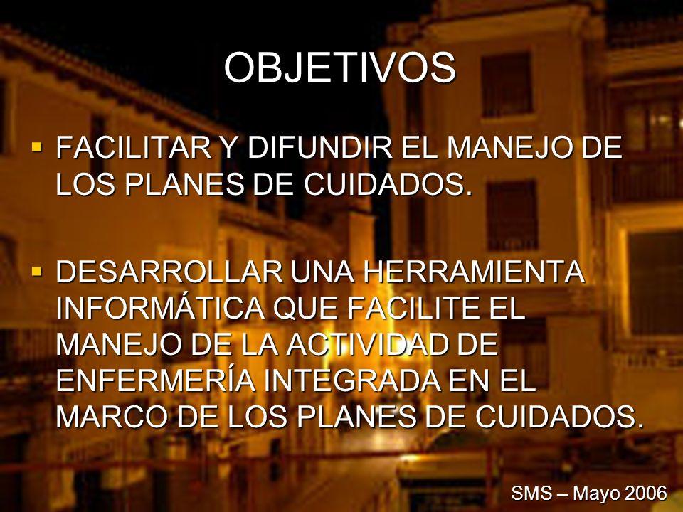 OBJETIVOS FACILITAR Y DIFUNDIR EL MANEJO DE LOS PLANES DE CUIDADOS. FACILITAR Y DIFUNDIR EL MANEJO DE LOS PLANES DE CUIDADOS. DESARROLLAR UNA HERRAMIE