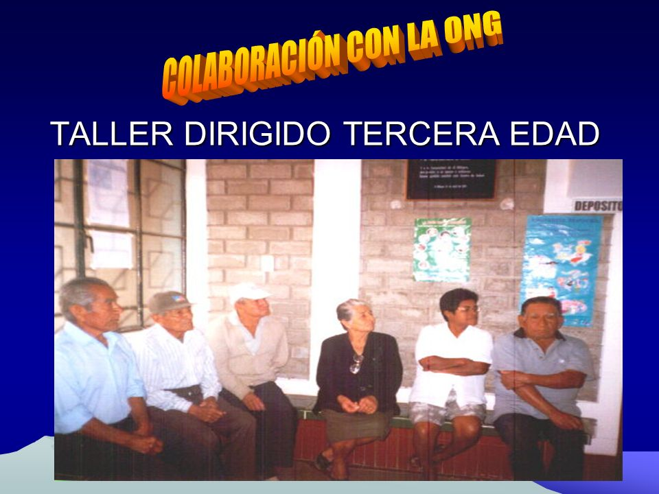 TALLER DIRIGIDO TERCERA EDAD