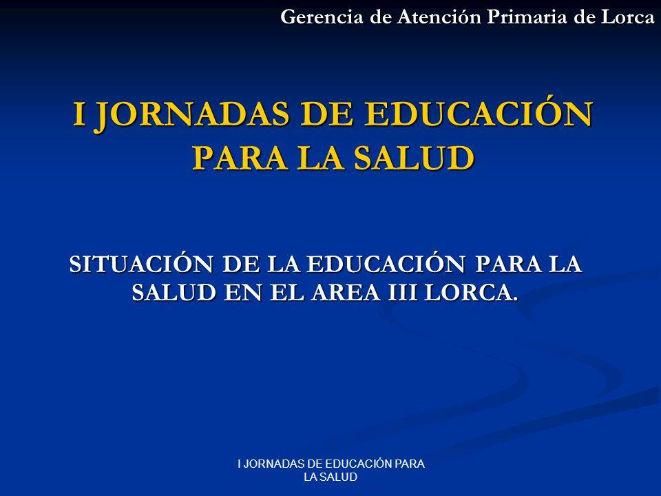 I JORNADAS DE EDUCACIÓN PARA LA SALUD ANTECEDENTES CURSO TALLER SOBRE CONFECCIÓN DE DIETAS (2003-2004).