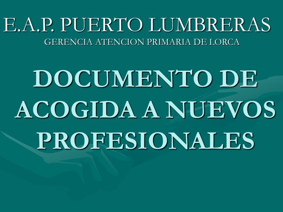 DOCUMENTO DE ACOGIDA A NUEVOS PROFESIONALES E.A.P.