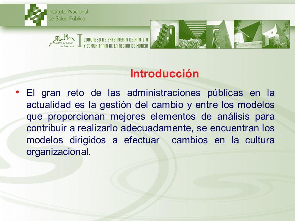 Introducción El gran reto de las administraciones públicas en la actualidad es la gestión del cambio y entre los modelos que proporcionan mejores elem