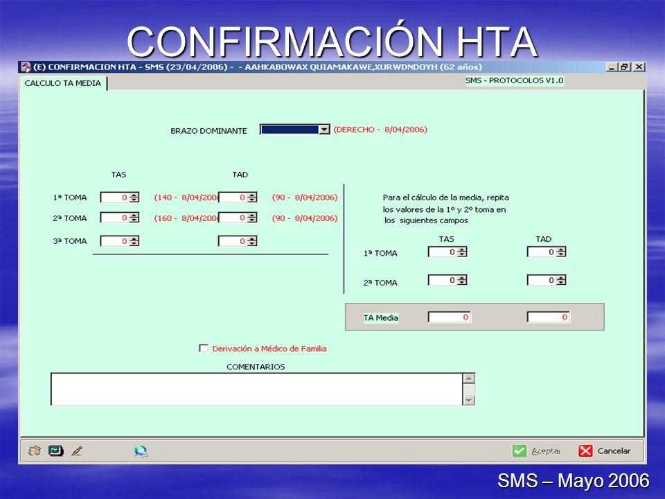 CONFIRMACIÓN HTA SMS – Mayo 2006
