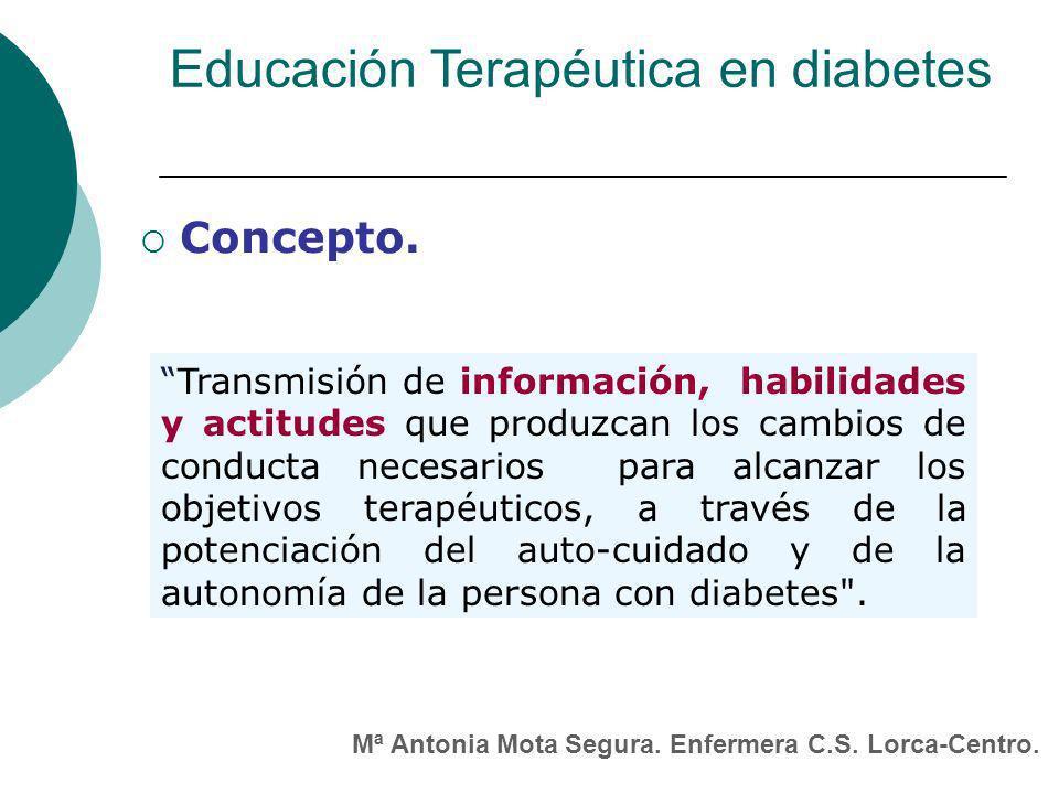 Educación Terapéutica en diabetes Concepto.