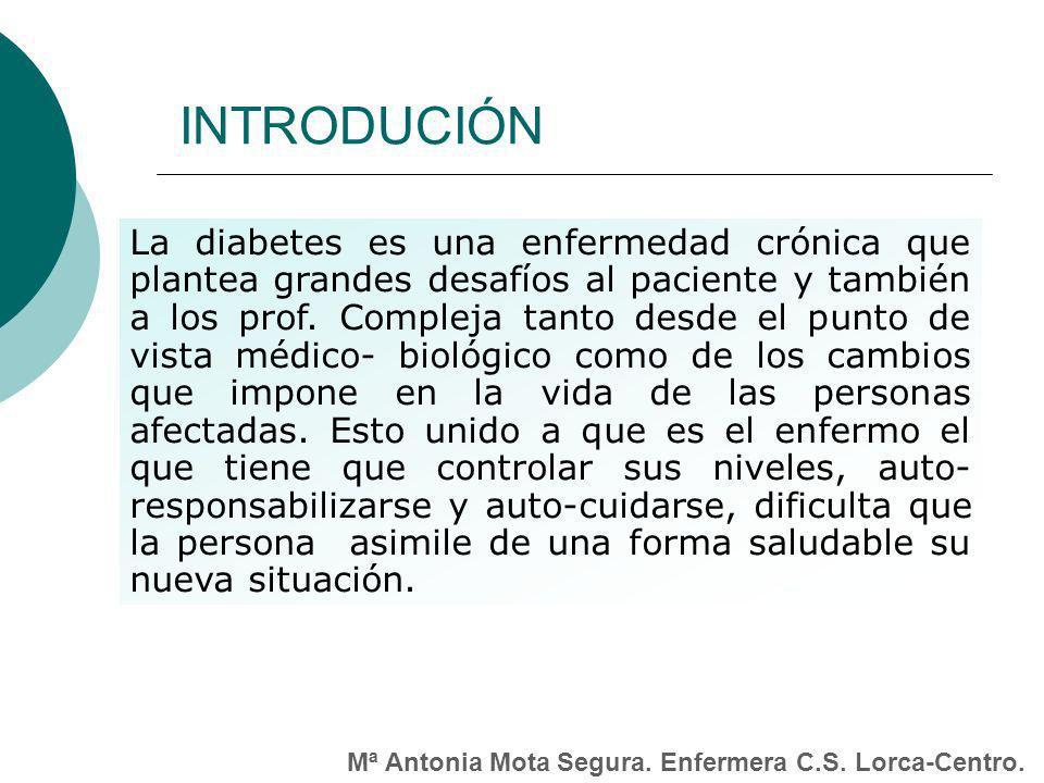 La diabetes es una enfermedad crónica que plantea grandes desafíos al paciente y también a los prof.