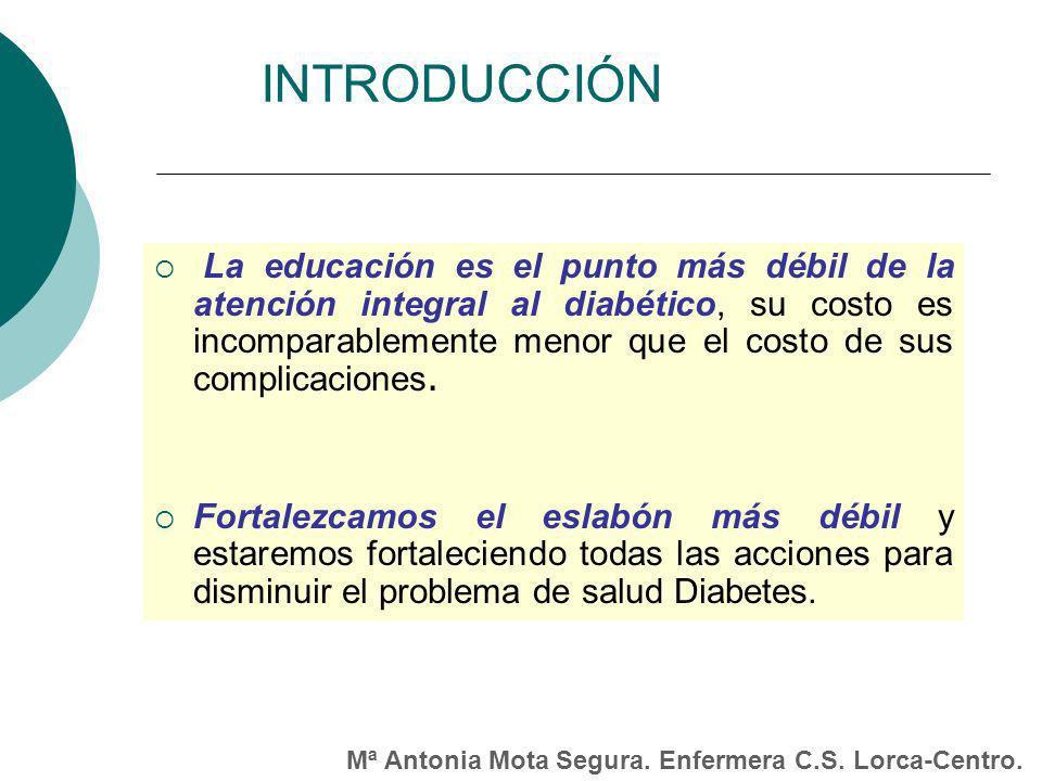 La educación es el punto más débil de la atención integral al diabético, su costo es incomparablemente menor que el costo de sus complicaciones.