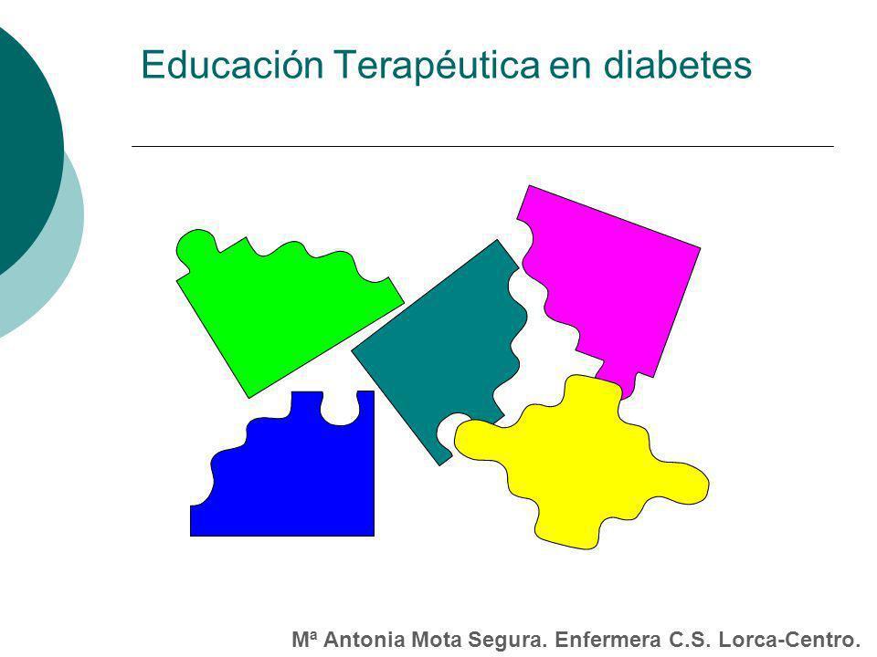 Educación Terapéutica en diabetes Mª Antonia Mota Segura. Enfermera C.S. Lorca-Centro.