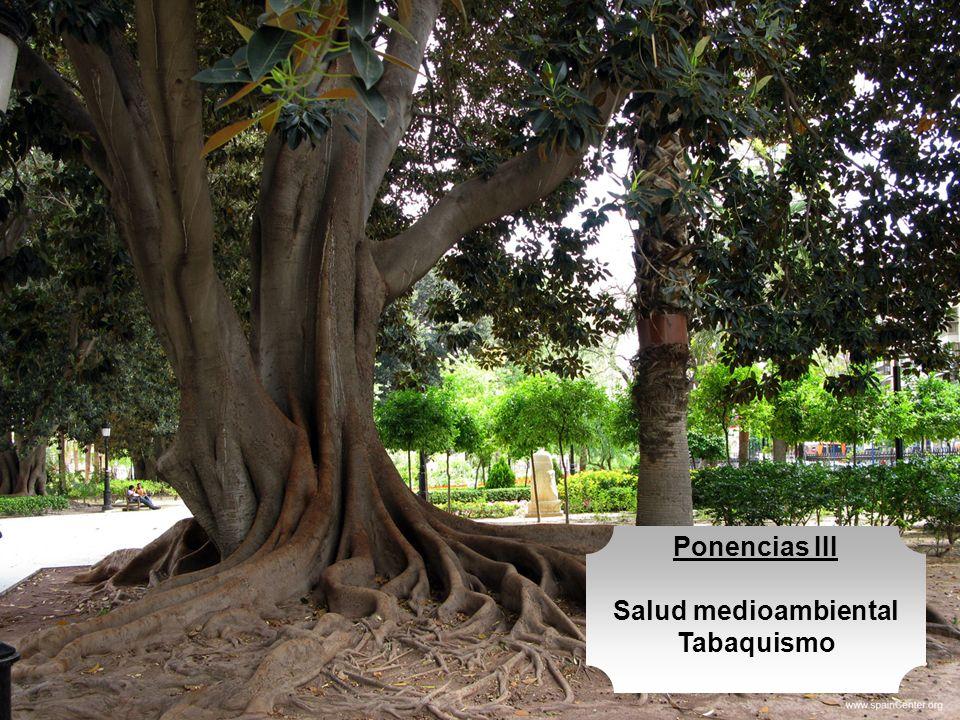Ponencias III Salud medioambiental Tabaquismo
