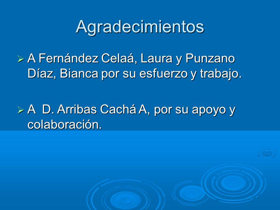 Agradecimientos A Fernández Celaá, Laura y Punzano Díaz, Bianca por su esfuerzo y trabajo. A Fernández Celaá, Laura y Punzano Díaz, Bianca por su esfu
