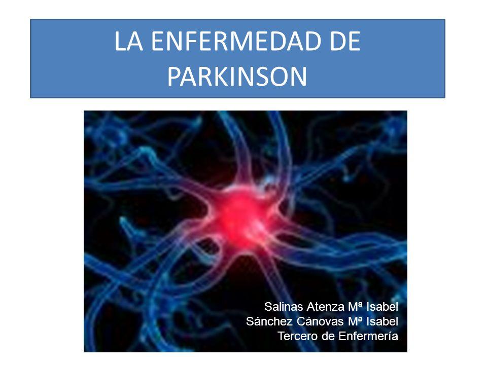 LA ENFERMEDAD DE PARKINSON Salinas Atenza Mª Isabel Sánchez Cánovas Mª Isabel Tercero de Enfermería