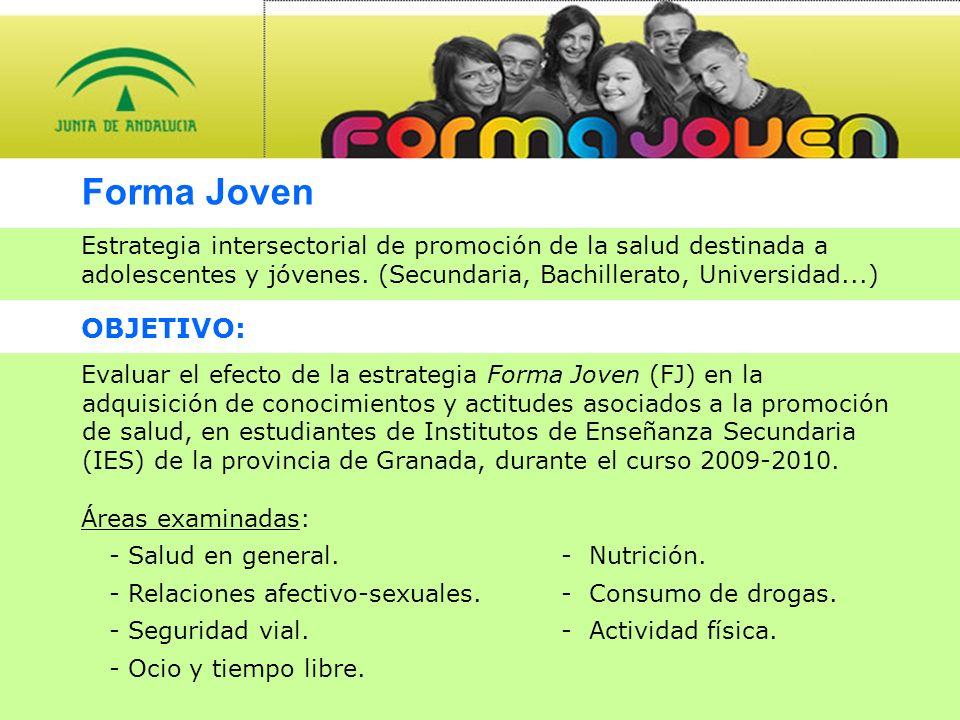 Forma Joven Estrategia intersectorial de promoción de la salud destinada a adolescentes y jóvenes.