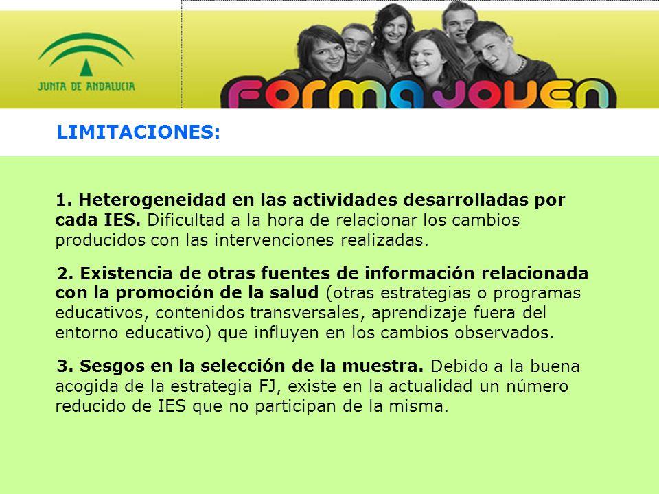 RESUMEN DE RESULTADOS DESCRIPTIVOS: Participación: - El alumnado participante en la estrategia Forma Joven en la provincia de Granada ha sido 16.124.