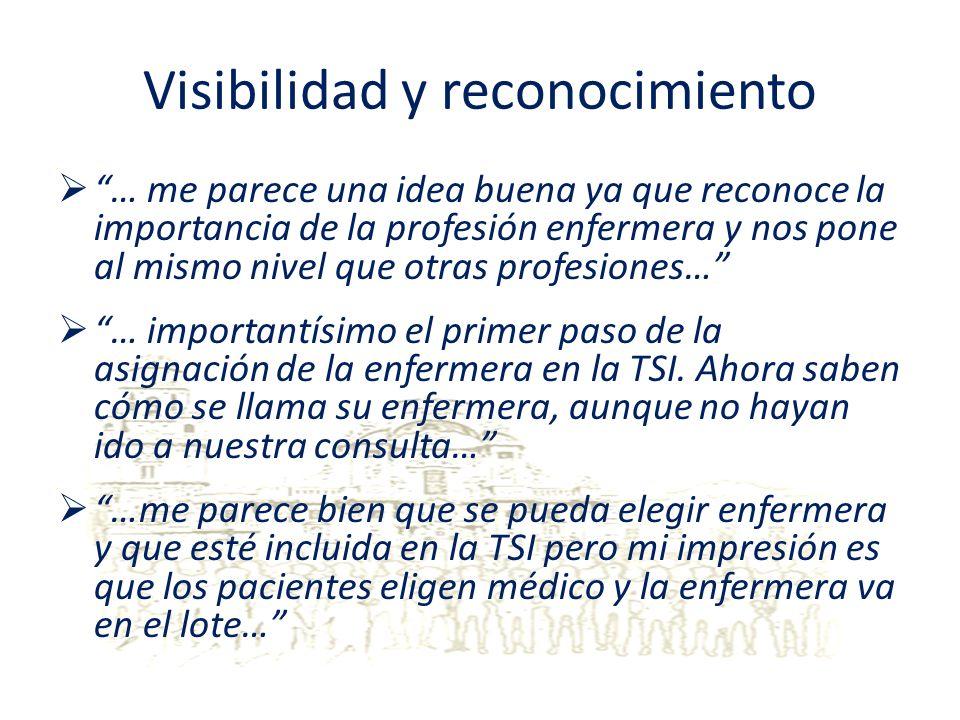 Visibilidad y reconocimiento … me parece una idea buena ya que reconoce la importancia de la profesión enfermera y nos pone al mismo nivel que otras p